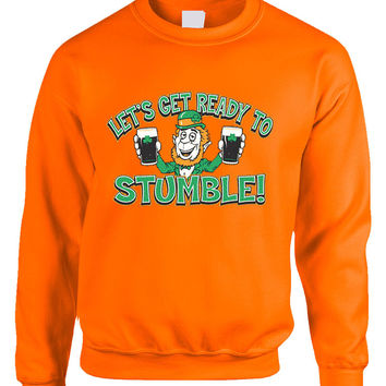 let`s get ready to stumble St patrick women sweatshirt