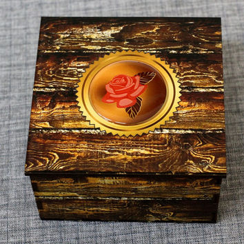 Jewelry box - Wooden box -Wood box -Ring box - Wood box -Wood boxes -Jewelry boxes -Wood carving schatulle Wedding gifts Jewellery box boite