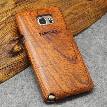 Real Wood Carved Case for All Samsung Phones