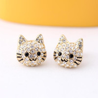 KITTY stud earrings, 2colors | girlsluv.it