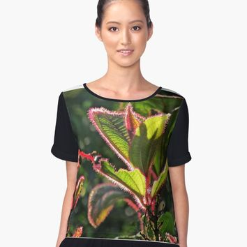'Colors Garden Photographic Print' Women's Chiffon Top by PaulahChaves