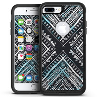 Ethnic Aztec Navy Point - iPhone 7 or 7 Plus Commuter Case Skin Kit