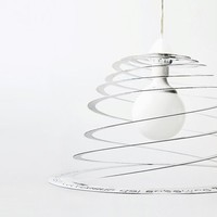 TWIST and POPPY concentric spiral lamps and penholder