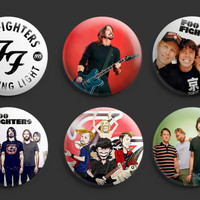 Foo Fighters Pinback Buttons Badges 1.25 inch 6pcs