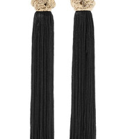 Saint Laurent - LouLou gold-plated tassel clip earrings