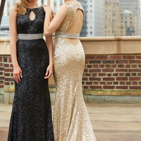 All Sequin Madison James Prom Dress 15-110