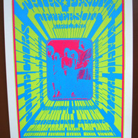 Jefferson Airplane Psychedelic rock and roll silkscreen concert poster