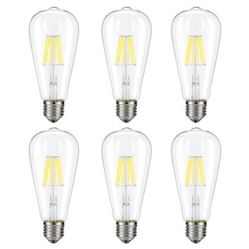 Dimmable Edison LED Bulb, Kohree 6W Vintage LED Filament Light Bulb, 4000K Daylight White, 60W Incandescent Equivalent