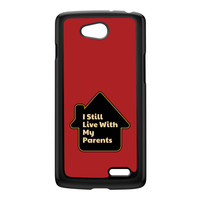 I Still Live With My Parents Black Hard Plastic Case for LG L90 by Chargrilled
