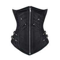 Jenny Goth Long Torso Leather Underbust Corset NS-1445