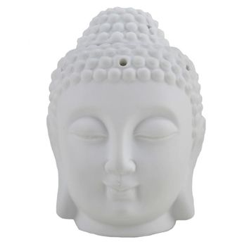 Translucent Porcelain Buddha Incense and Candle Holder