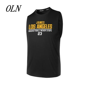 OLN 2018 Basketball Jerseys 23 LeBron James Printing Jersey Quick Dry Uniforms Sports Breathable Training Shirts For Men