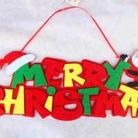 Christmas Santa Claus Merry Christmas Hanging Pendant Decoration