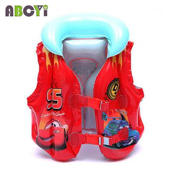 4-8 Years Child Swim Vest Boy Girl Inflatable Life Vest for Fishing Baby Floating Vest Swim Ring Inflatable Flamingo Donut Swan