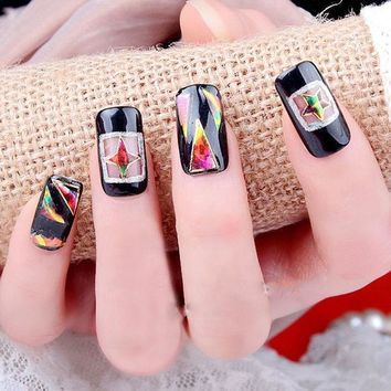 LMFONEJ OPAL FERRIE - broken glass nail sticker Colorful 3D decal with adhesive
