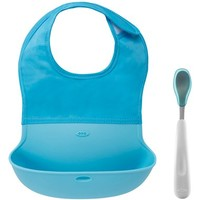 Infant OXO Tot On-the-Go Bib & Spoon Set - Blue/green
