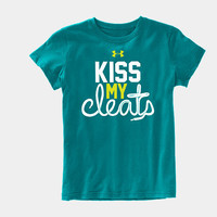 Girls' UA Kiss My Cleats Graphic nobrT-Shirt/nobr | 1249505 | Under Armour US