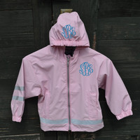 Monogrammed Rain Jacket - Personalized - Children Sizes