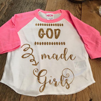 God Made Girls with Pink Sleeves Baby-Youth