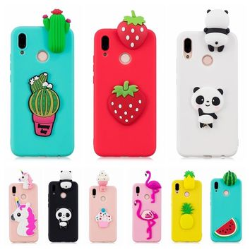 Huawei P20 Lite Phone Case Cartoon Panda Cactus Candy Silicone Case Cover on for Funda Huawei P20 Pro P20Lite Nova 3E Case etui