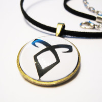 Mortal Instruments Rune Angelic Power Bronze Necklace