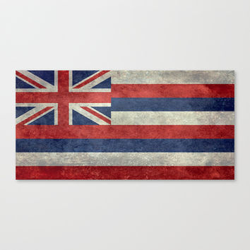 The State flag of Hawaii - Vintage version Canvas Print by Bruce Stanfield