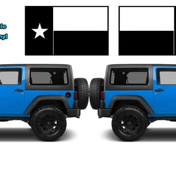 "(2) 6 or 12"" Texas State Flag Vinyl Hood Decals Lone Star State USA fits: Jeep Wrangler"