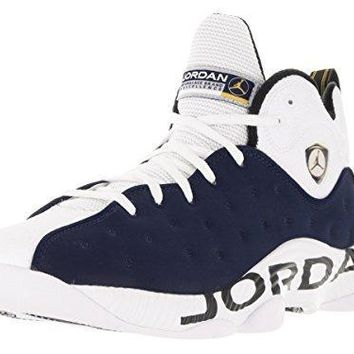 Nike Jordan Men's Jordan Jumpman Team II Mid Nvy/Mid Nvy/White/Vrsty Mz Basketball Sho
