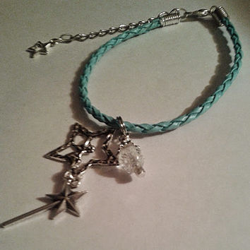 Fairy Charm Bracelet ~ Fairy star & fairy wand with a glow in the dark bead ~ Make great birthday party favors for little Fairies