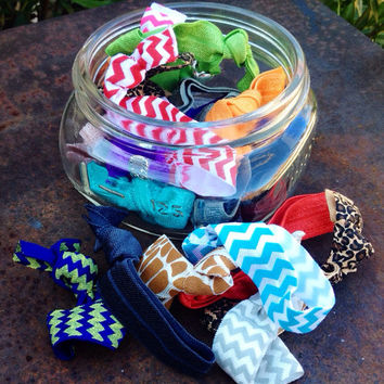 Fabric Hair Tie Gift- Southern Grace Bandz - Mini Mason Jar- 20 Yoga Elastic Hair Ties