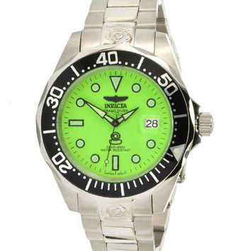 Invicta 10641 Men's Grand Diver Automatic Stainless Steel Green Dial Dive Watch