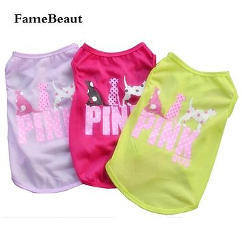 HOT SALE Dog Clothes Print Cartoon Pattern Pet T-Shirt Clothing Summer Breathable Cozy Pet Vest Clothes for Dogs All Season