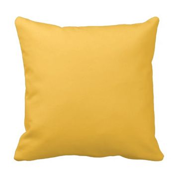 Solar Yellow Plain Decorative Throw Couch Pillows