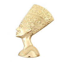 Egyptian NEFERTITI Statement Gold STRETCH RING CLASSIC Metal Celebrity Inspired