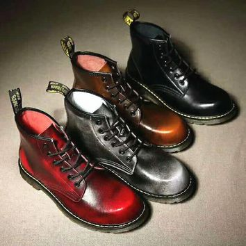 On Sale Hot Deal Winter Dr. Martens Casual Flat Shoes Anti-skid Boots G-CSXY