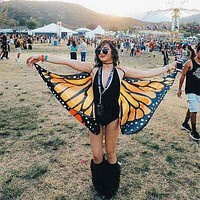 2017 Butterfly Shape Shawl Beach Towel Polyester Personality Fashion Colorful Tapestry 145X65cm