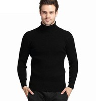 Double Collar Turtleneck Thick Warm Cashmere Sweater For Men