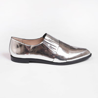 Rosa Flat Loafer Silver