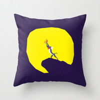 A King Is Born - Lion King Throw Pillow by DanielBergerDesign