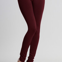 Everyday Basic Ankle Legging - Burgundy