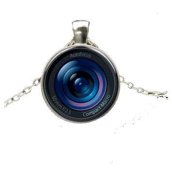 Camera Lens Photo Pendant Necklace For Women