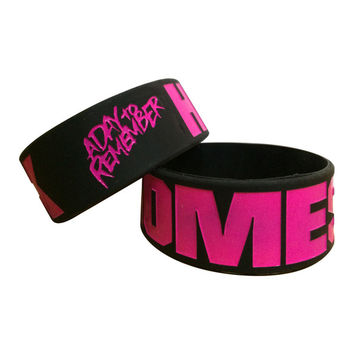 A Day To Remember: Homesick Black And Pink Bracelet (Black)