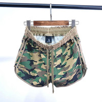 And the wind 2016 summer new cotton terry ladies Camo shorts shorts sport beach  female