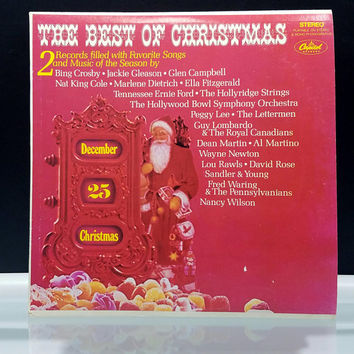 The Best of Christmas Double LP 2 Vinyl Records Filled with Favorite Songs and Music of the Season 1960s Capitol Records