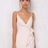 Tower Of Babel Wrap Playsuit
