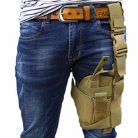 Outdoor Adjustable Practical Puttee Bag Leg Thigh Holster Pouch Outdoor Hunting Airsoft Military Tactical free shipping