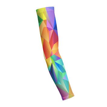 Rainbow Polygon  Shooting Arm Sleeve