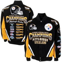 Pittsburgh Steelers Black Commemorative Twill Full Zip Jacket