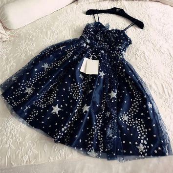 Midnight Starry Sky Party Dress - Limited Quantity