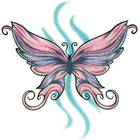 BUTTERFLY 22 Temporary Tattoo 2x2
